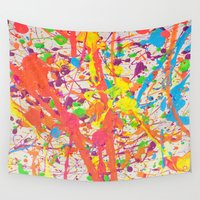 confetti Wall Tapestries featuring Confetti by Candy Circles