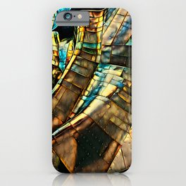 Golden Abstract 3 iPhone Case