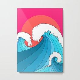 The 3 big waves Metal Print