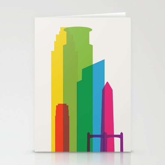 Shapes of Minneapolis Stationery Cards
