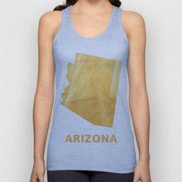 Arizona map outline Sunny yellow watercolor Unisex Tank Top