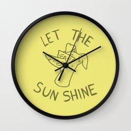 Let the sun shine - Italian greyhound - Yellow Wall Clock