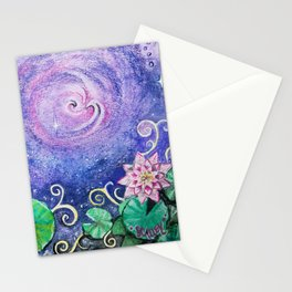 Lily Pads in Space Stationery Cards