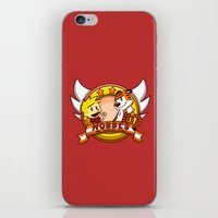 hobbes iPhone & iPod Skins featuring Calvin and Hobbes: Hobbes The Stuffed Tiger by Macaluso