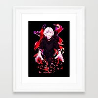 tokyo ghoul Framed Art Prints featuring Kaneki Tokyo Ghoul 4 by Prince Of Darkness
