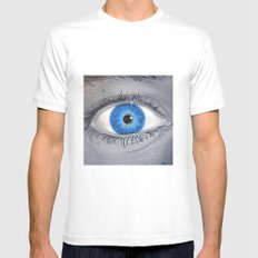 What Are You Looking At? Mens Fitted Tee White MEDIUM