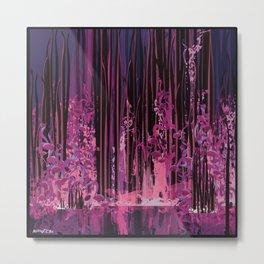 The purple pond Metal Print