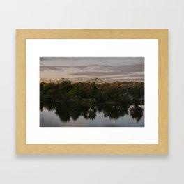 Parc de la cite du Havre and Jacques Cartier Bridge Framed Art Print