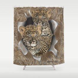 Leopard Cubs Shower Curtain