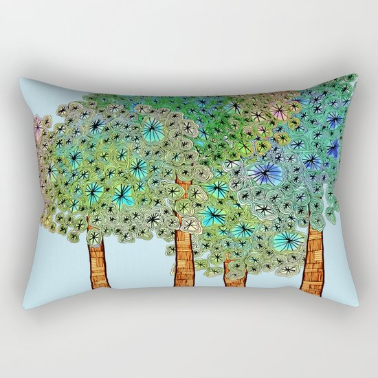 Tree Grove Rectangular Pillow