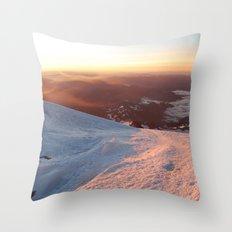 Sunrise above the earth - 14,411 feet Mt. Rainier Throw Pillow