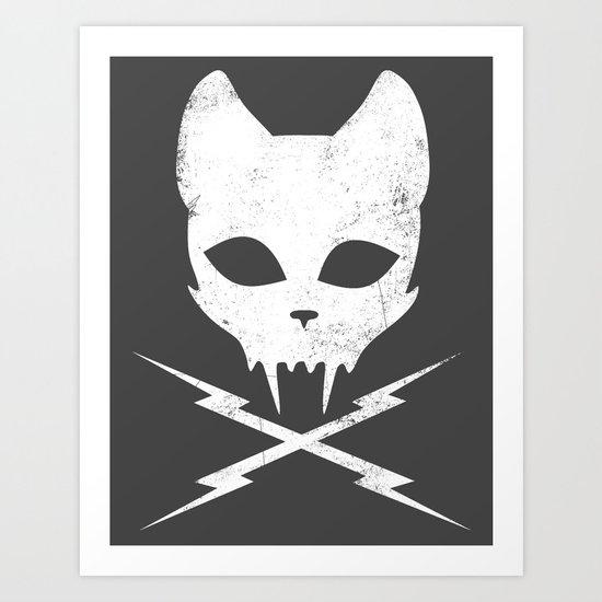 Stunt Kitty Art Print