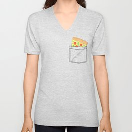 Emergency supply - pocket pizza Unisex V-Neck