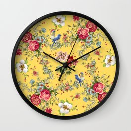 French Botanical Wall Clock