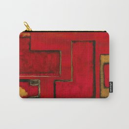 Detached, Abstract Shapes Art Carry-All Pouch