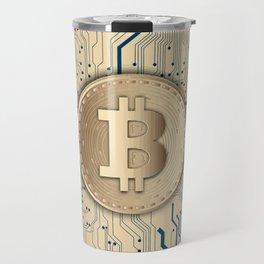 Bitcoin money gold Travel Mug