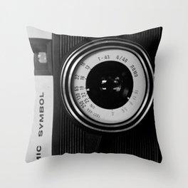 Lomo Camera Cosmic Symbol Throw Pillow