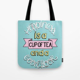 Happiness is Tea and Books Tote Bag