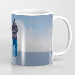 ski orange yellow Coffee Mug