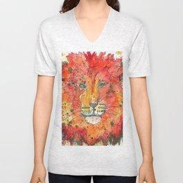 Cosmic Lion Unisex V-Neck