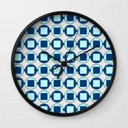 Candy Sweet Blues Pattern Wall Clock
