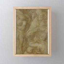 Saint Nicholas rescues the city of Myra from the famine, Otto van Veen, 1600 - 1610 Framed Mini Art Print