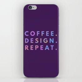 Coffee Design Repeat iPhone Skin