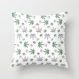 Weed Illustrated Throw Pillow