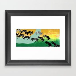 The Great Wildebeest Migration Framed Art Print