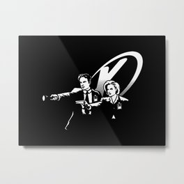 MULDER SCULLY DESIGN Metal Print