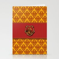 gryffindor Stationery Cards featuring Gryffindor House by Sarah and Bree