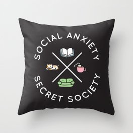 Social Anxiety Secret Society Throw Pillow