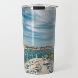 Luxury Yachts And Boats In Cascais Port At Atlantic Ocean, Wall Art Print, Luxury Resort Art, Poster Travel Mug