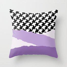 High Street Landscape Lavender Throw Pillow