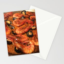 Shrimp Mussel Rice Stationery Cards