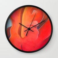 nudes Wall Clocks featuring Nudes: Atlas by Adam James David Anderson