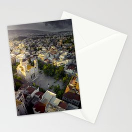 Sunrise over ancient city of Athens Stationery Cards