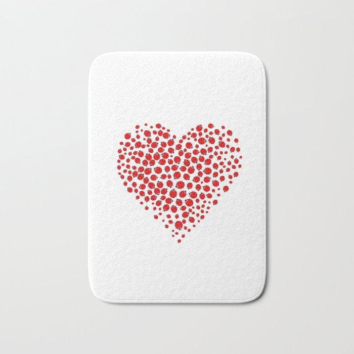 Ladybug heart Bath Mat
