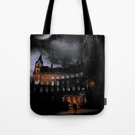 Spooky Victorian London Architecture Tote Bag