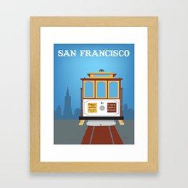 San Francisco, California - Skyline Illustration by Loose Petals Framed Art Print