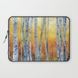 Birch Trees at Sunset Laptop Sleeve