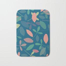 Leaves: Blue Bath Mat