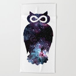 Super Cosmic Owlfinity Beach Towel
