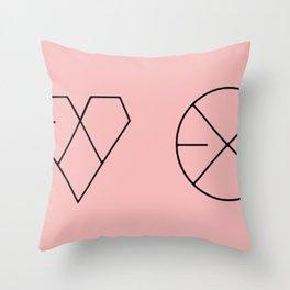 EXO logos Throw Pillow
