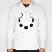 moon phases Hoodies featuring That's No Moon Phases by geekchic