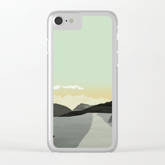Misty Mountain II Clear iPhone Case