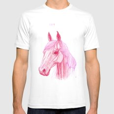 Year Of The Horse MEDIUM White Mens Fitted Tee
