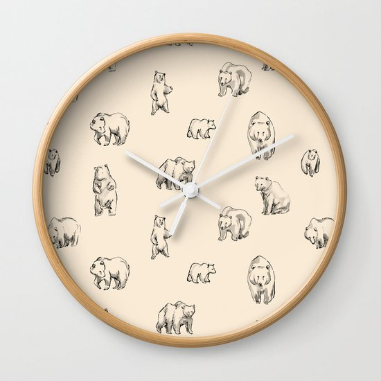 Bears Wall Clock