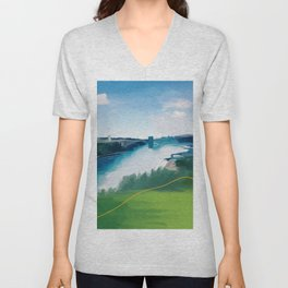 On The Other Side Of Niagara Falls Unisex V-Neck