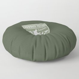 Snowmass Village Colorado Floor Pillow